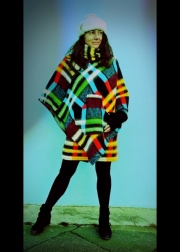 Red Blue Green Poncho