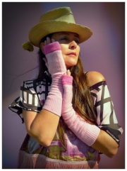 Upcycled Pastel Pink Cashmere Armwarmer Gloves