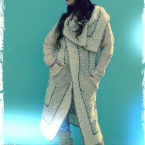 Vikki Cream Crochet Coat