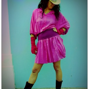Pink Silk Shirt Dress