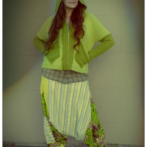 Vikki Lime Green Harem Pants
