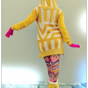 Vikki Mustard Yellow Sweater Dress