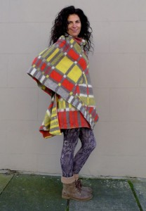 Upcycled Poncho Cape Blanket