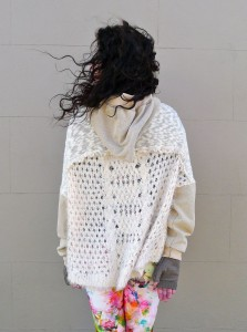 Upcycled Clothing Hoody Star Sweater