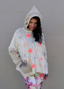 Upcycled Clothing Hoody Sweater Star Knit