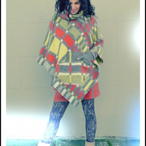 Upcycled Wool Poncho Vintage Blanket Cape