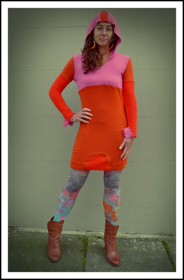 Upcycled Hoody cashmere Dress