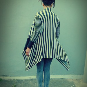 Upcycled Grey Monochrome Wrap Jacket Cardigan